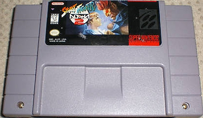 street fighter 2 snes cart